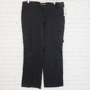 Dickies Relaxed Fit Black Cargo Pants Straight Leg